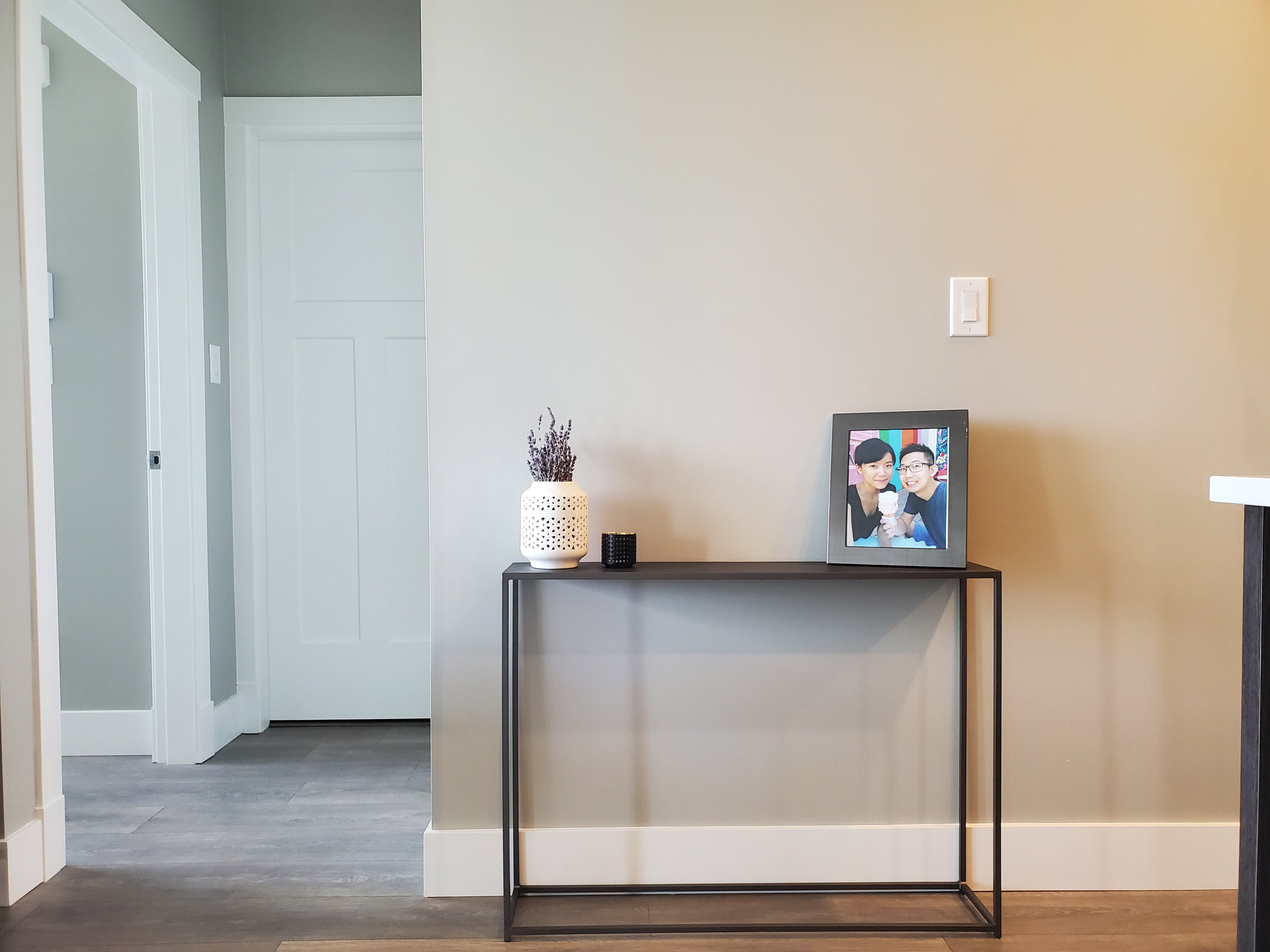 CB2 Mill Mini Console Table