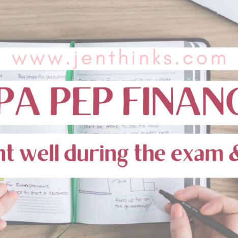5 Things I Wish I Knew Before I Started CPA Core 1